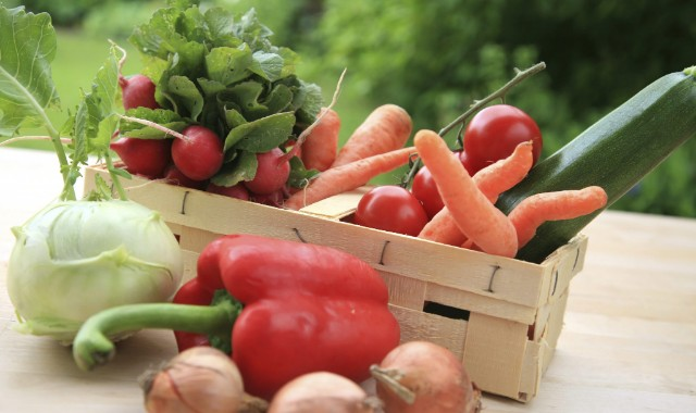 Stock a Food Bank Shelf with Fresh Fruits and Vegetables